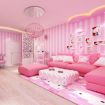 Pink Home Design Princess Girly Room MOD Unlimited Money 1.6.4